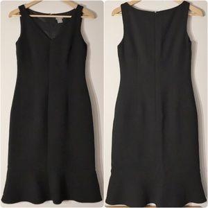 EUC Ann Taylor sleeveless black wool work dress